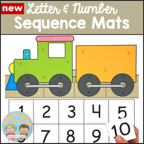 letter and number sequence mats download for preschool and kindergarten