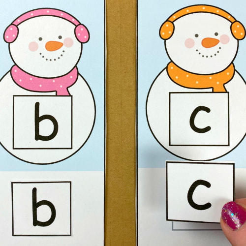 snowman alphabet cute and paste for preschool and kindergarten