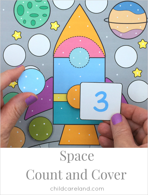 space count and cover for preschool and kindergaren