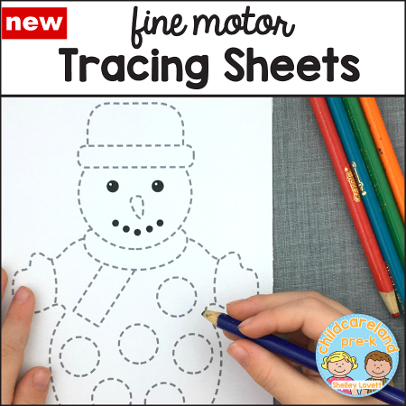 fine motor tracing sheets for preschool and kindergarten