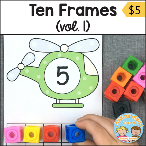 ten frames download for preschool and kindergarten