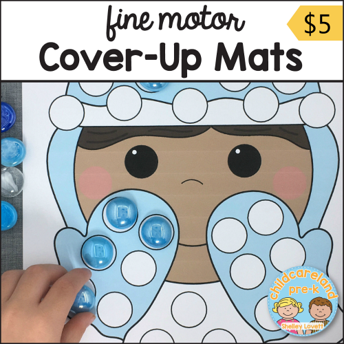 fine motor cover-up mats for preschool and kindergarten