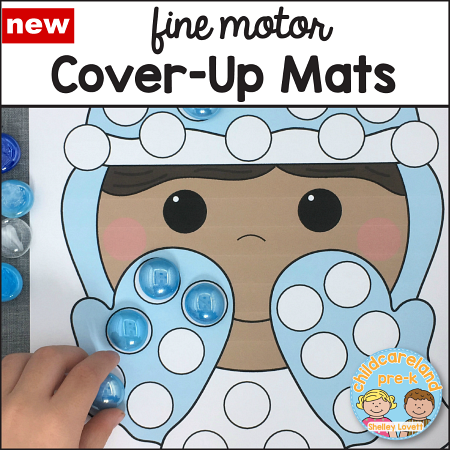 fine motor cover-ups for preschool and kidnergarten
