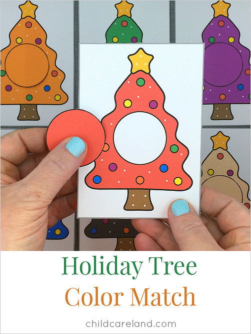 tree color match for preschool and kindergarten